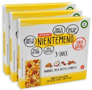Enervit Nientemeno Giallo Snack Fiocchi di Riso e Frutta Secca Multipack 3 x 63 g.