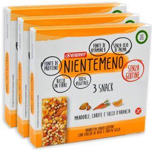 Enervit Nientemeno Arancio Snack Fiocchi di Riso e Frutta Secca Multipack 3 x 63 g.