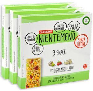 Enervit Nientemeno Verde Snack Fiocchi di Riso e Frutta Secca Multipack 3 x 69 g.