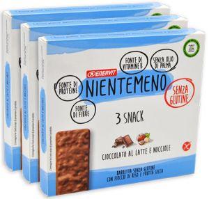 Enervit Nientemeno Azzurro Snack Fiocchi di Riso e Frutta Secca Multipack 3 x 99 g.