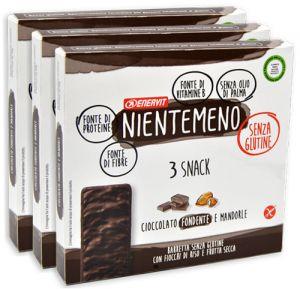 Enervit Nientemeno Marrone Snack Fiocchi di Riso e Frutta Secca Multipack 3 x 99 g.