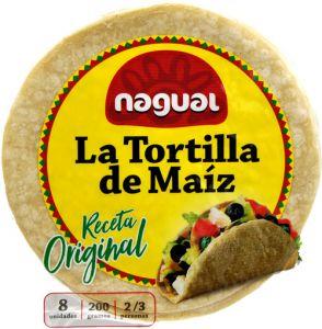Nagual La Tortilla de Maìz Receta Original 8 X 25 g.