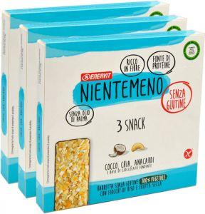 Enervit Snack Azzurro Fiocchi di Riso e Frutta Secca 3 x 69 g.