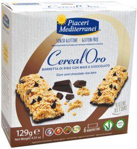 Piaceri Mediterranei Barretta di Riso con Mais e Cioccolato 129 g.